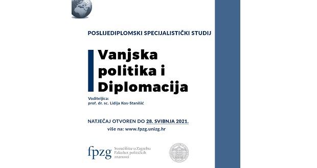 Poslijediplomski studij Vanjske politike i diplomacije