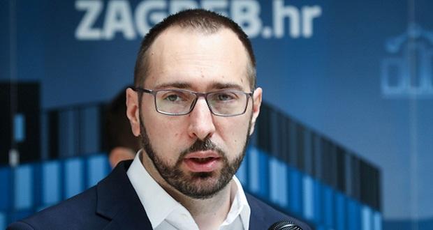 Konferencija za novinare gradonačelnika Zagreba Tomislava Tomaševića